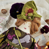 Isolda, A Little Lancashire Witch Doll
