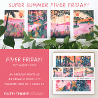 Fiver Friday Deal: Paradise Prints and Cards