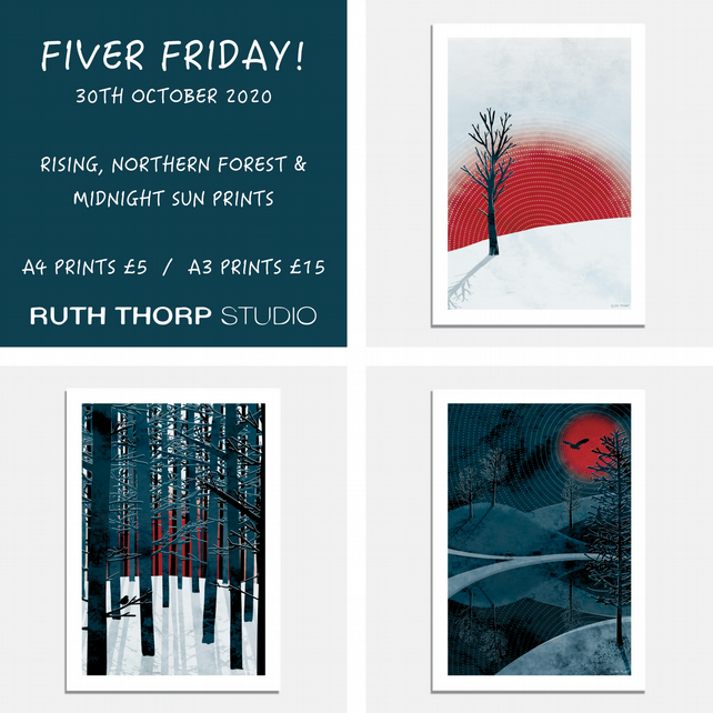 Fiver Friday Deal: Northern Sun Art Prints A4 and A3