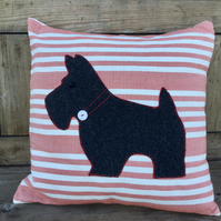 Cushion with terrier design