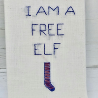 Free Elf Textile Picture. This order can be personalised.