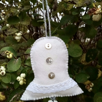 Christmas Bell Decoration White Christmas Collection