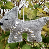 Christmas Tree Decoration Grey And Silver Scottie Dog