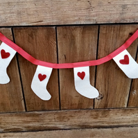 Christmas Bunting Little Stocking Design