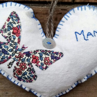 Heart Decoration Personalised Options Available