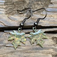 Autumnal Maple Leaf Earrings. Sterling Silver upgrade available.