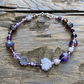 Purple Mix Beads & Sterling Silver Bracelet