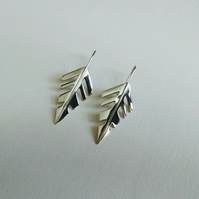 Sterling Silver Arrow Leaf Earrings
