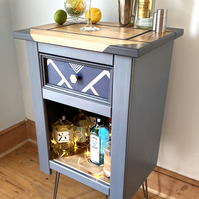 NOW SOLD: Geometric Pattern Gin Cabinet