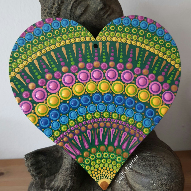 'Burst of Spring' Wooden Heart