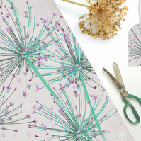 Giant Allium Gift Wrapping Paper - Single folded sheets