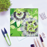 Passion Flower Card - birthday, summer, tropical