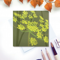 Fennel Card - Autumn seed head, birthday, for gardeners