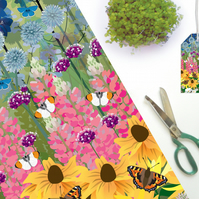 Cottage Garden & Butterflies Gift Wrapping paper