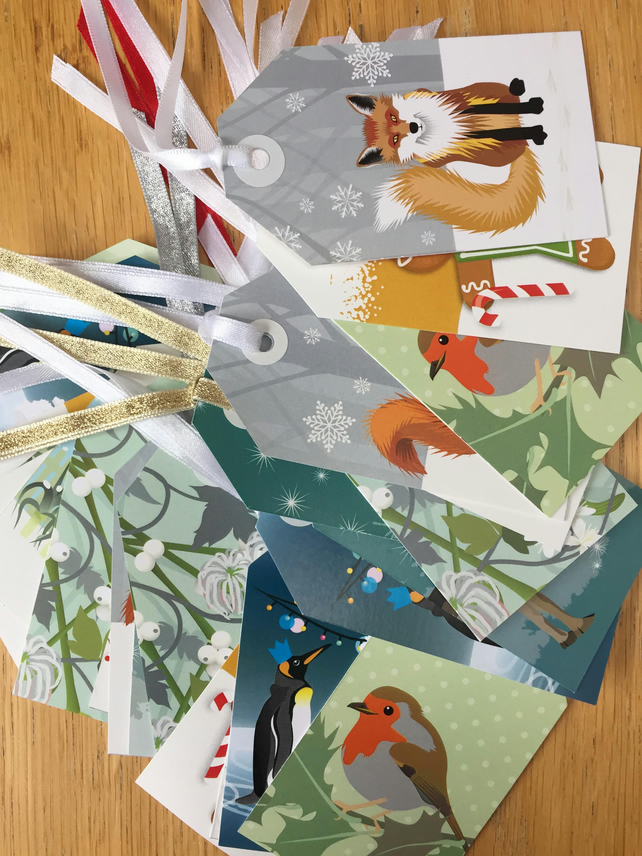 SALE - 25 Mixed Christmas Gift Tag Designs