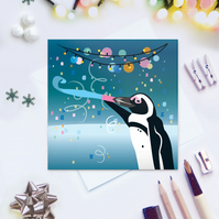 Jackass Penguin Christmas Card