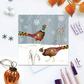 Winter Pheasants Christmas Card - sustainable, recyclable