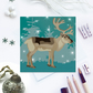 Winter Woodland Reindeer Christmas Card - sustainable, recyclable