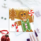 Gingerbread Man Christmas Card - home bakers