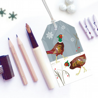 Pheasant Christmas Gift Tags - Eco Friendly, Compostable