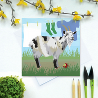 Goat Card - Farm, animal, birthday
