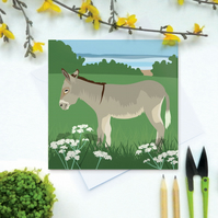 Donkey Card - Farm, animal, birthday, eco friendly