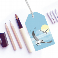 Flying Seagull Gift Tags - six tags