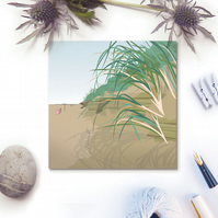 Sand Dunes Card - summer, seaside, birthday