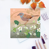 Hedge Sparrow or Dunnock Card - British Bird, Eco Friendly, FSC card