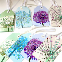 SALE - 20 x Allium Gift Tags, Floral Tags