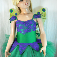 Fairy tutu costume with detachable wings