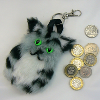 Cat coin purse (can be clipped on to handbag)