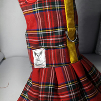 Dog dress. Dress for dogs with harness detail