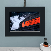 Fine Art Photograph Mono Red Black Mount Simply Hendos Relish Building