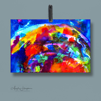 Inkjet Print of Fine Art Ink Abstract Celebration Rainbow