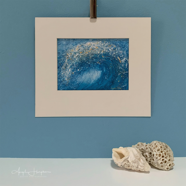 Fine art Print of Acrylic painting - Wave
