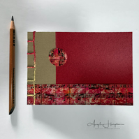 A6 Handmade Notebook Rust Red with Sheet Music Cover