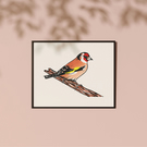Original Goldfinch lino print limited edition