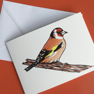 Goldfinch greetings card - blank