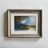 UP NORTH Abstract oil painting landscape, original abstract seascape,