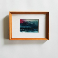 SEASCAPE 70 Original oil miniature painting- ACEO art- ATC collectable