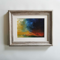 THE STORM, AGAIN Abstract oil painting landscape, original abstract