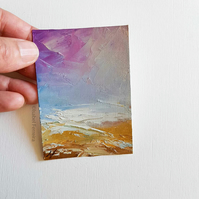 SEASCAPE 74, Original oil miniature painting- ACEO art- ATC collectable