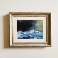 UPSURGE, Abstract oil painting landscape, original abstract seascape,