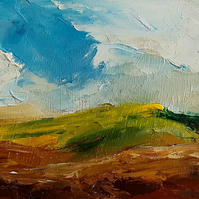 SOUTH DOWNS II Abstract oil painting landscape, original abstract
