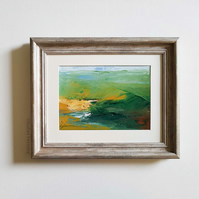 DOWN THE VALLEY Abstract oil painting landscape, original abstract