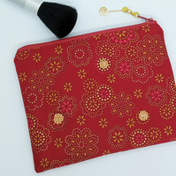 Red and gold make up bag 215E