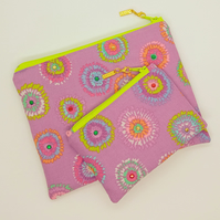 Make up bag and coin purse set 204E