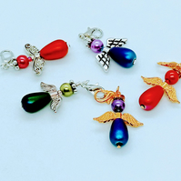 Angel zip pull charms