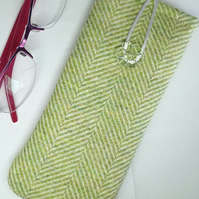 Green wool Glasses Case 202E
